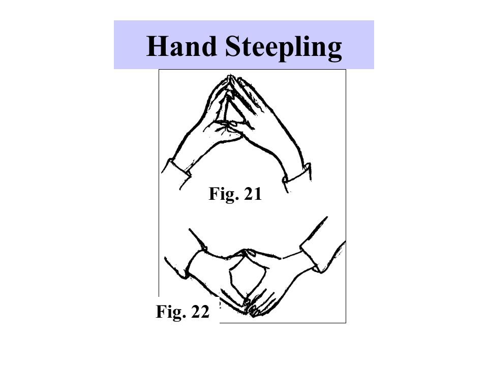 Hand Steepling Fig. 21. -Used by individuals who feel confident.