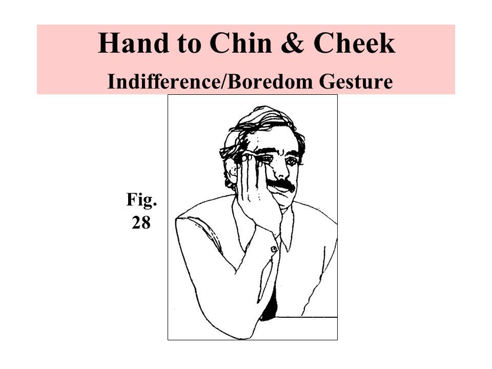 Hand to Chin & Cheek Indifference/Boredom Gesture