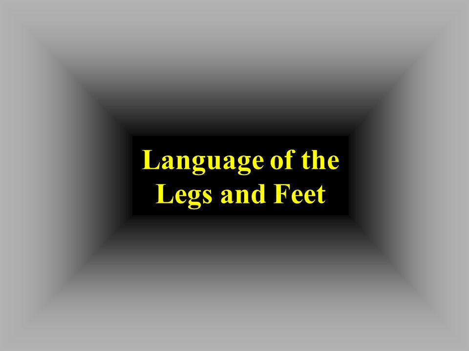 Language of the Legs and Feet