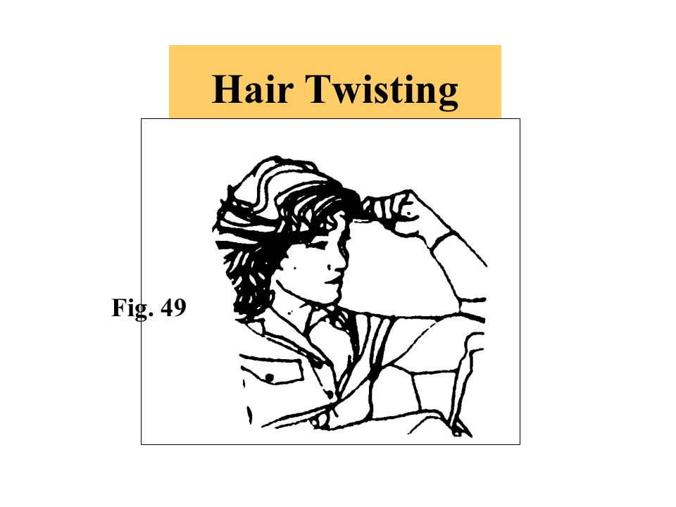 Hair Twisting Fig. 49. -This is generally a sign of nervous distraction.