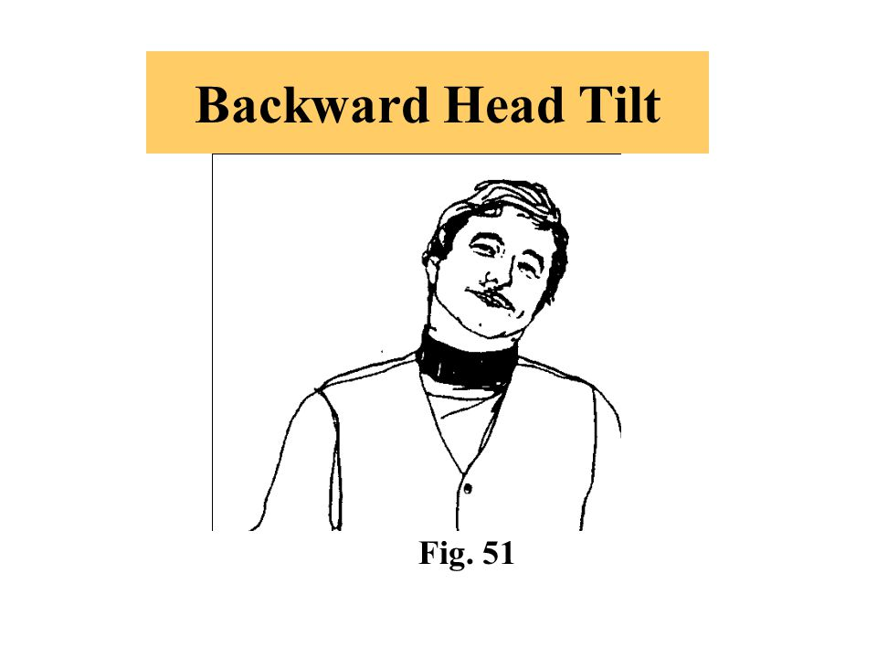 Backward Head Tilt -This gesture generally indicates a perceived superiority and (sometimes) contempt for people he/she is interacting with.