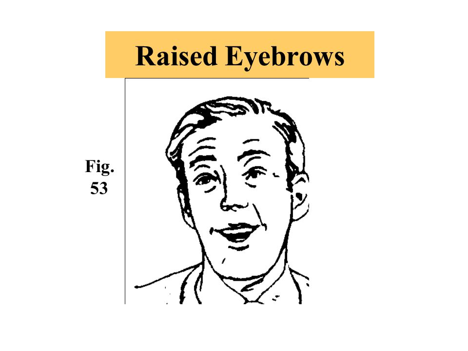 Raised Eyebrows Fig. 53 This gesture can indicate a couple of things: