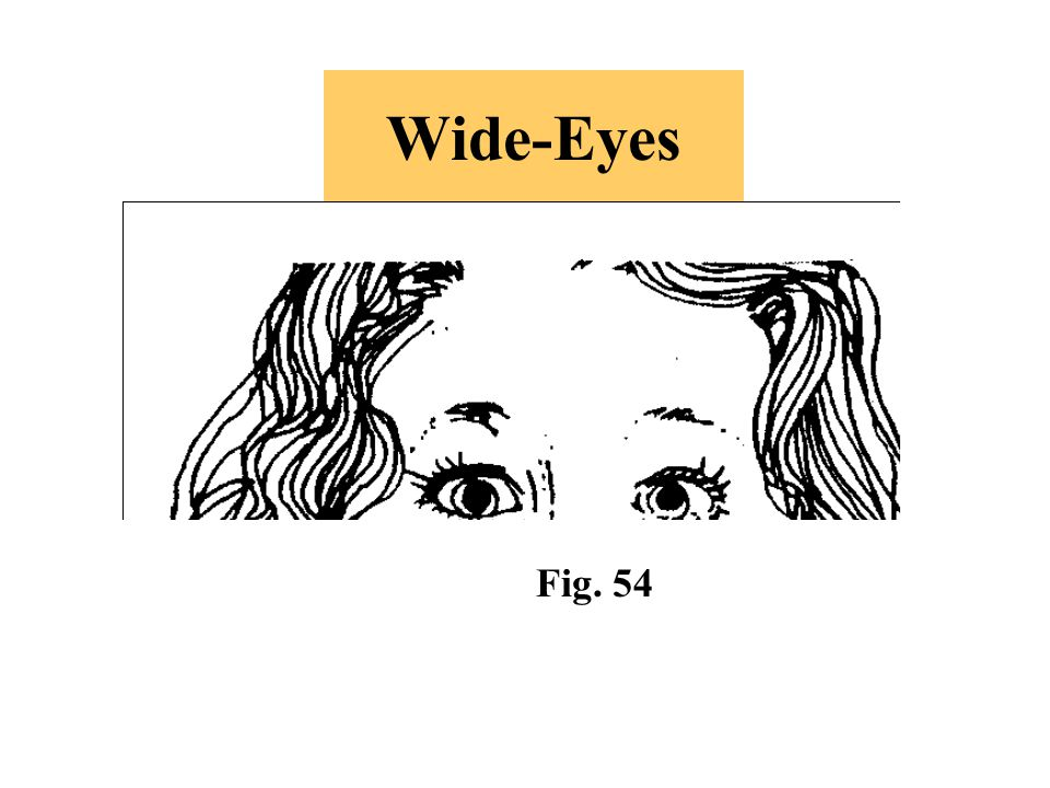 Wide-Eyes -If this gesture is accompanied by blinking, it indicates innocence (if eyes still maintain eye contact).