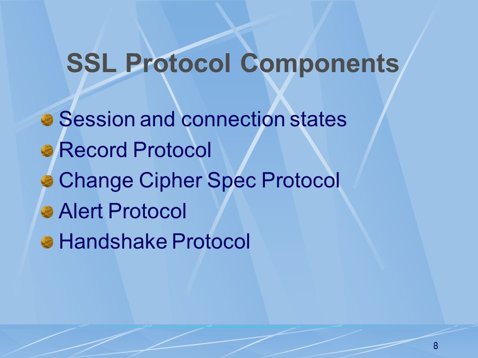 SSL Protocol Components