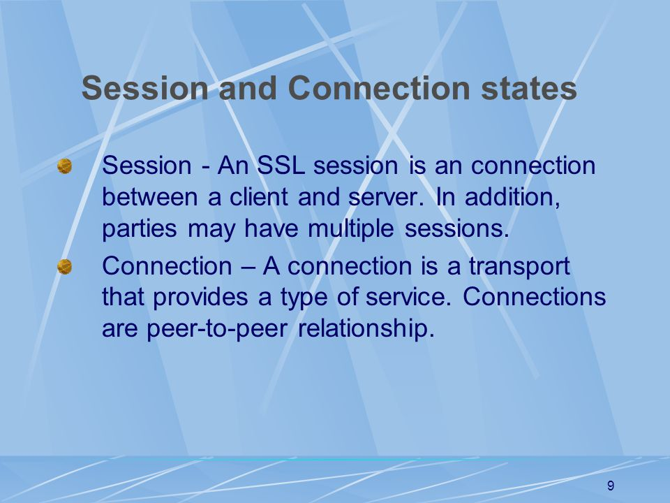 Session and Connection states