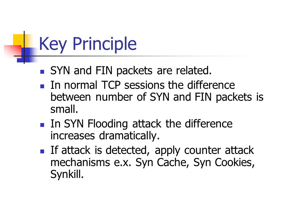 Key Principle SYN and FIN packets are related.