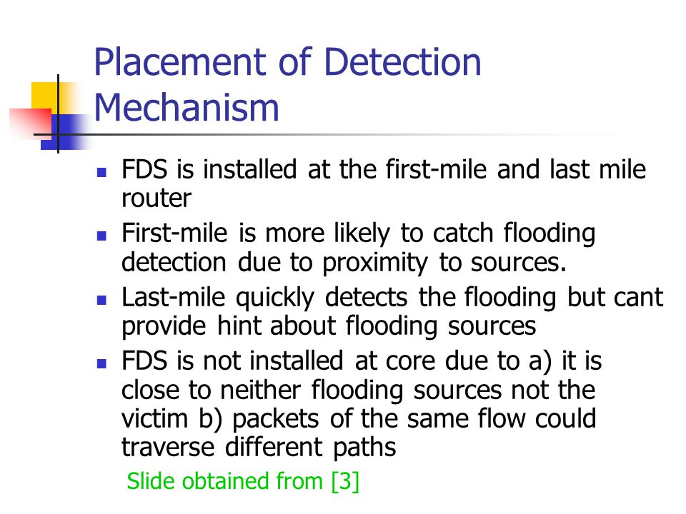 Placement of Detection Mechanism