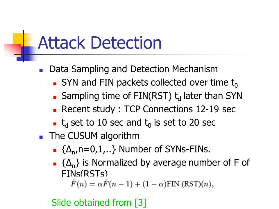 Attack Detection Data Sampling and Detection Mechanism