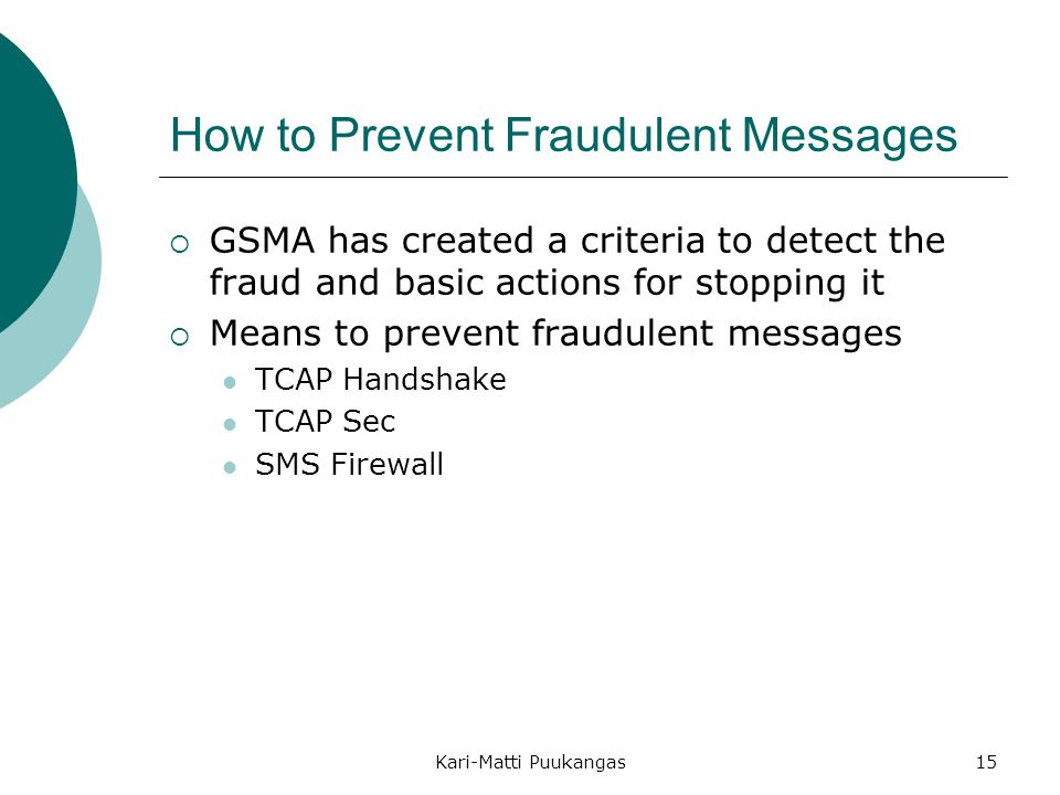 How to Prevent Fraudulent Messages