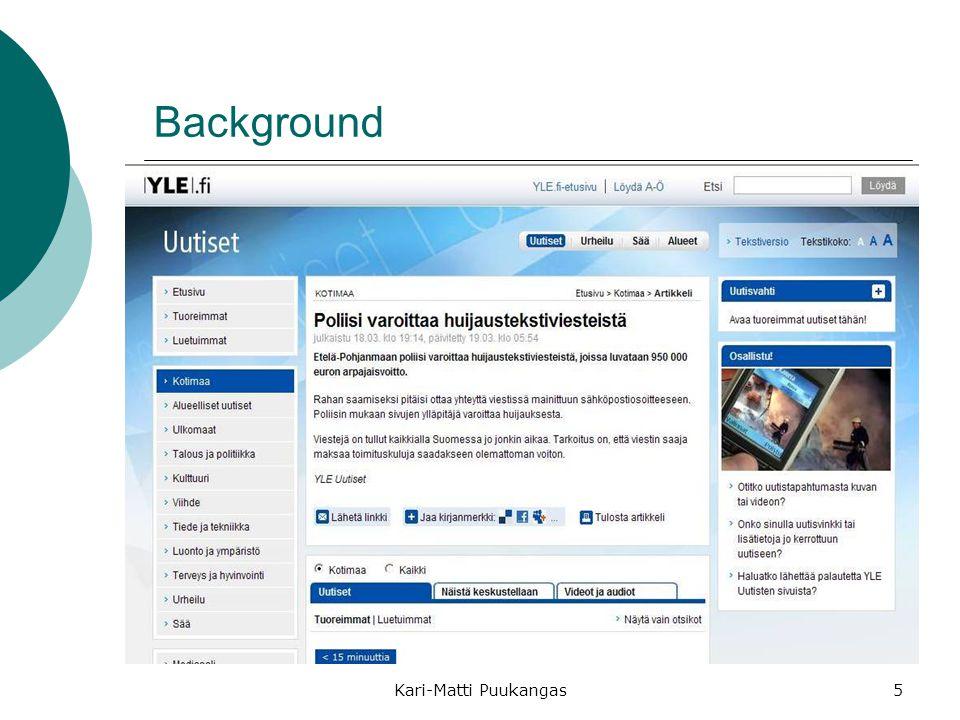 Background Kari-Matti Puukangas