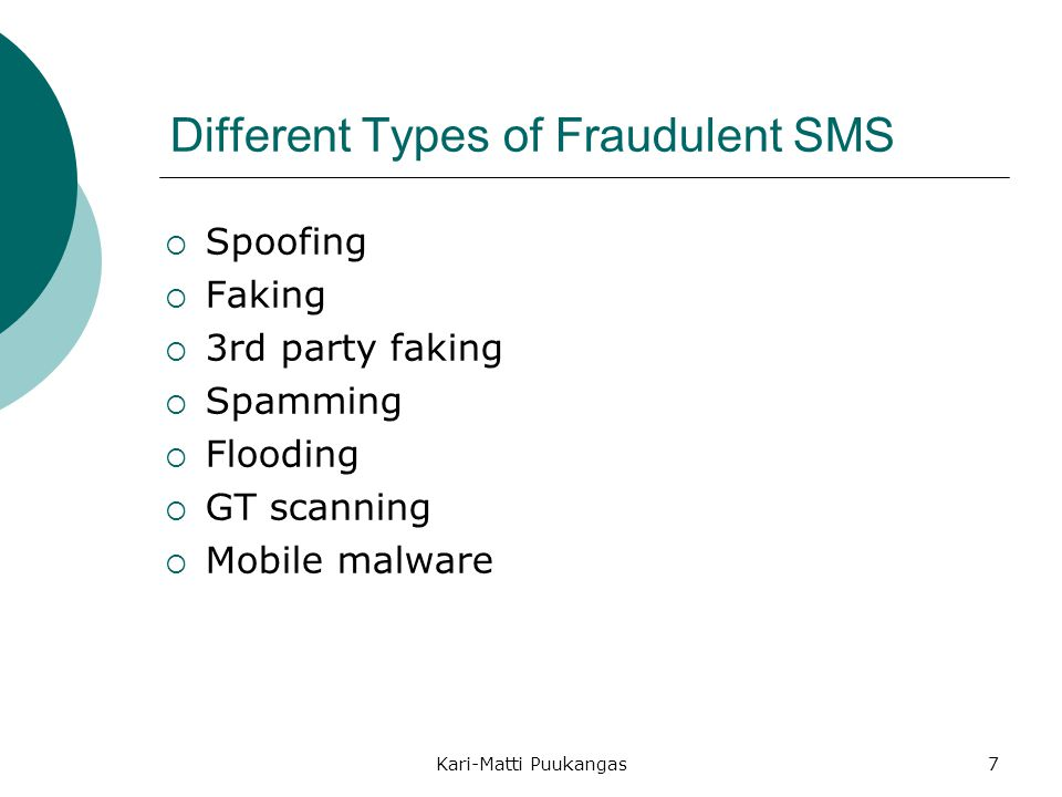 Different Types of Fraudulent SMS