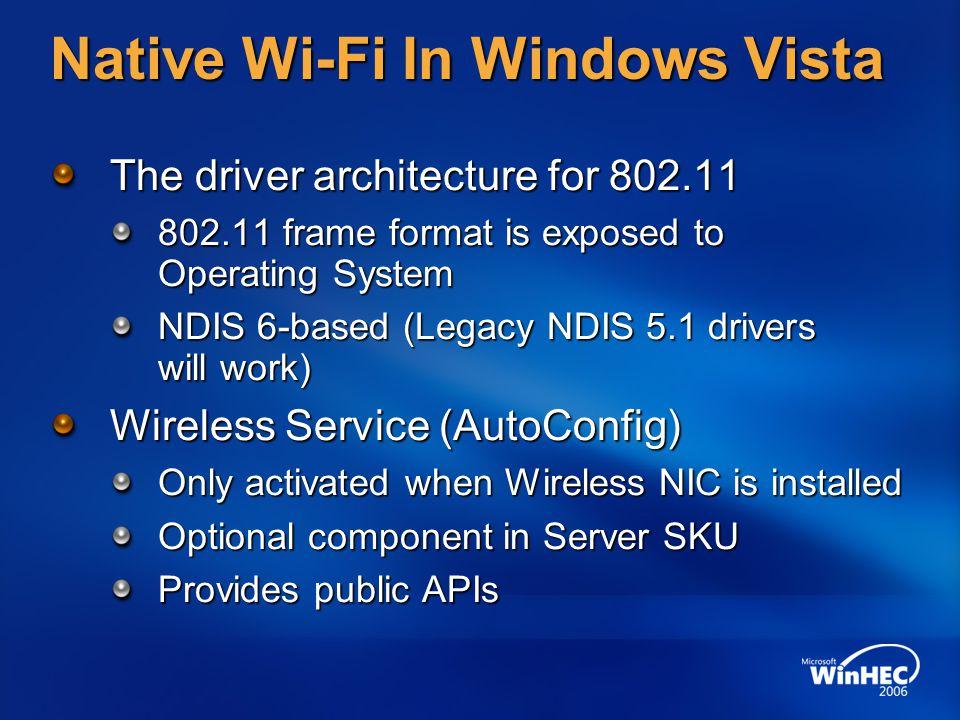 Native Wi-Fi In Windows Vista