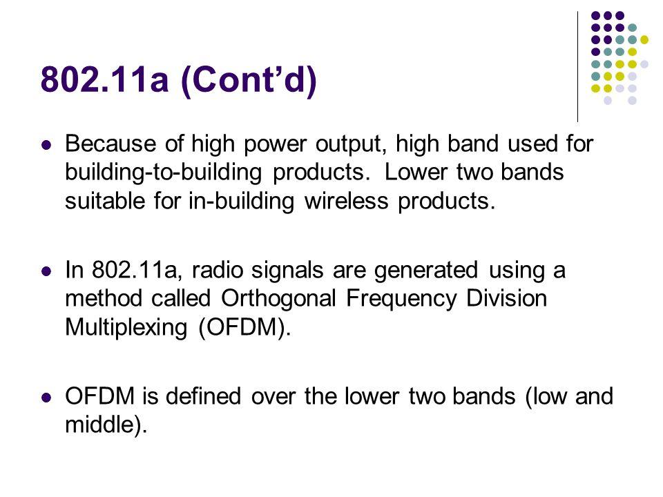 802.11a (Cont'd)