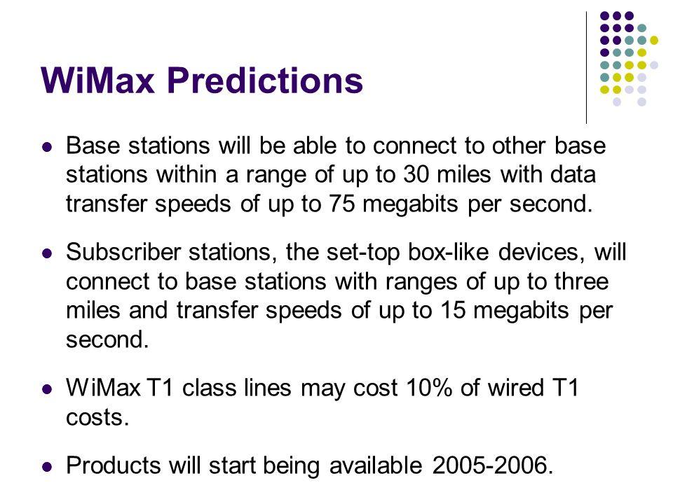 WiMax Predictions