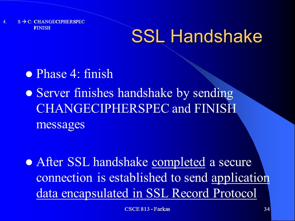 SSL Handshake Phase 4: finish