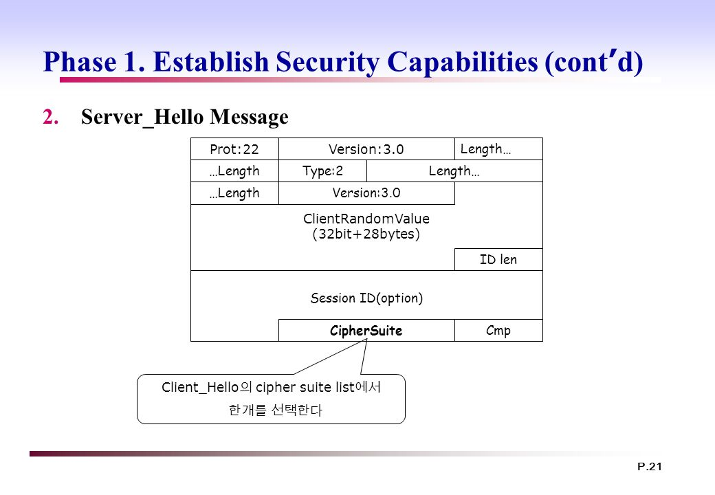 Phase 1. Establish Security Capabilities (cont'd)