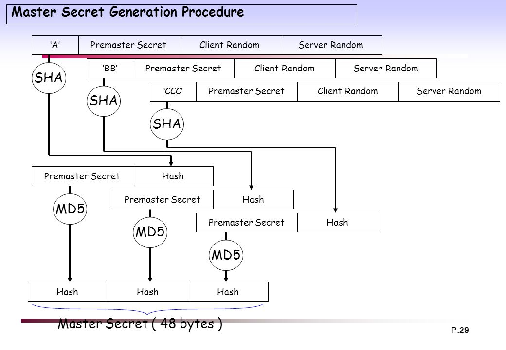 Master Secret Generation Procedure