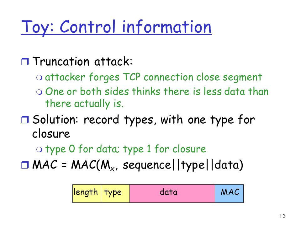 Toy: Control information