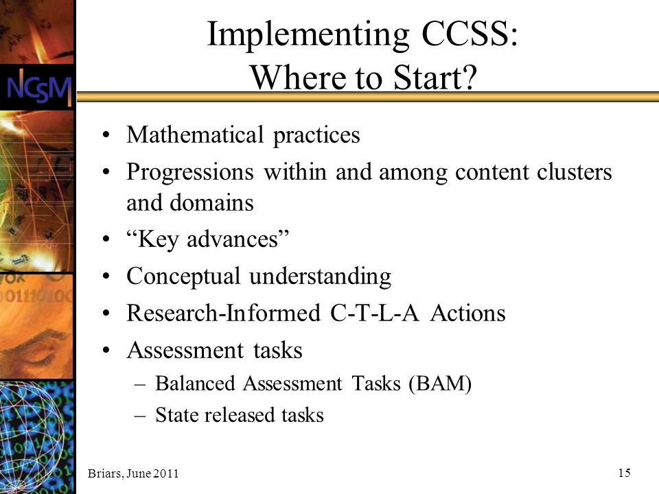 Implementing CCSS: Where to Start