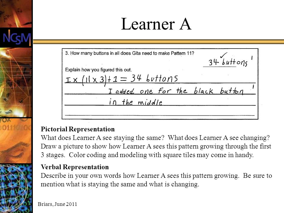 Learner A Pictorial Representation