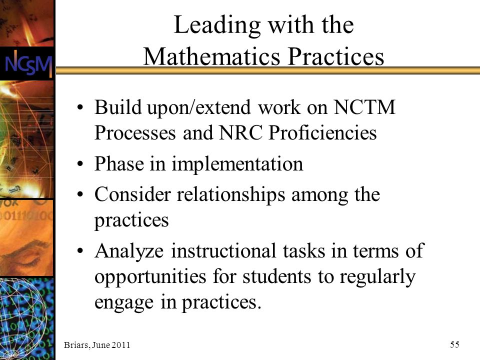 Leading with the Mathematics Practices
