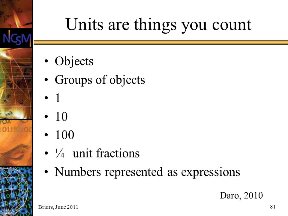 Units are things you count
