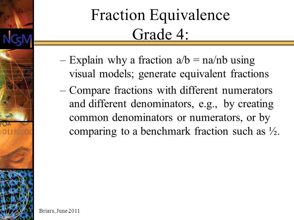 Fraction Equivalence Grade 4: