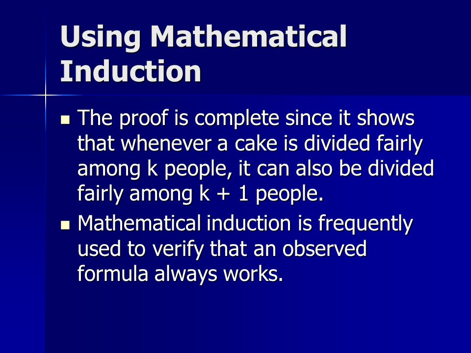 Using Mathematical Induction