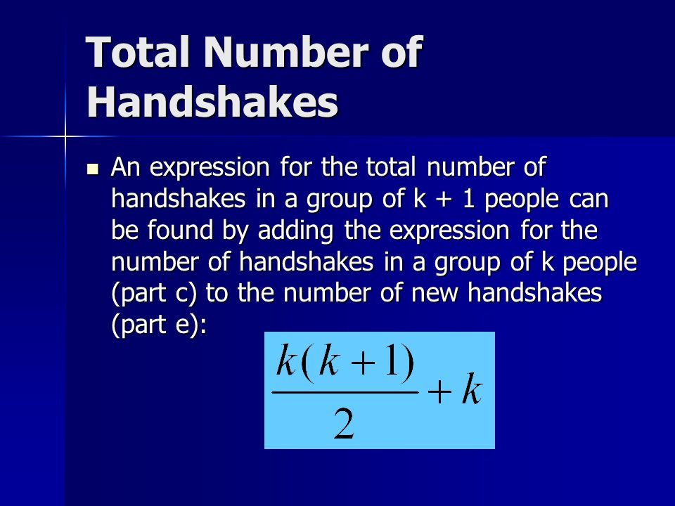 Total Number of Handshakes