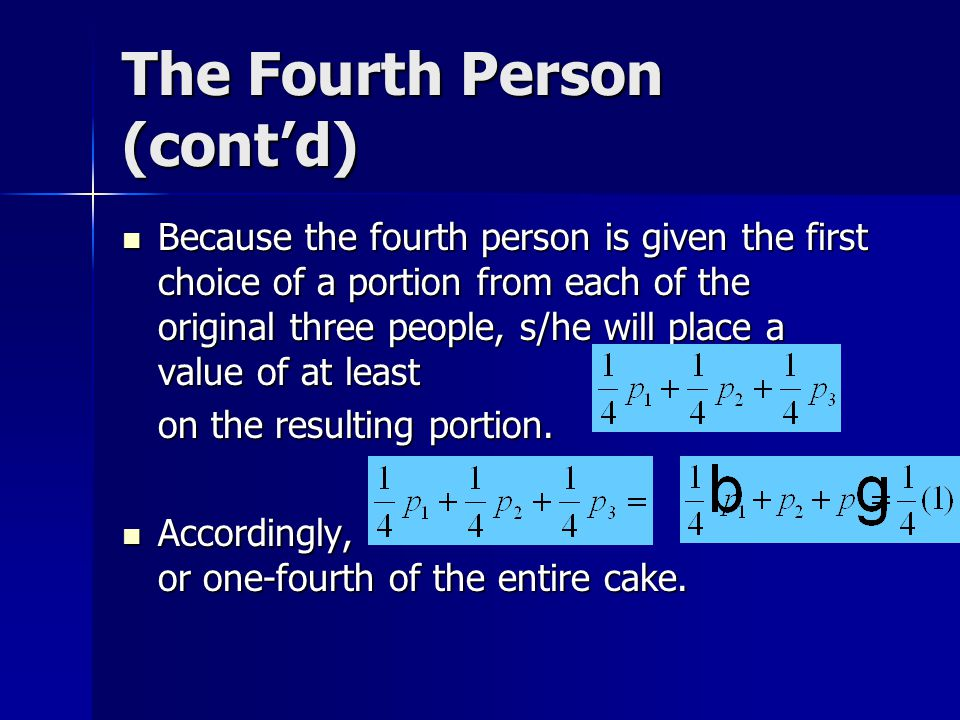 The Fourth Person (cont'd)