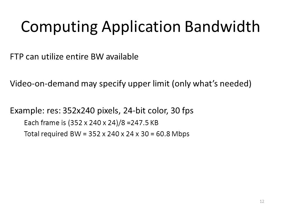 Computing Application Bandwidth