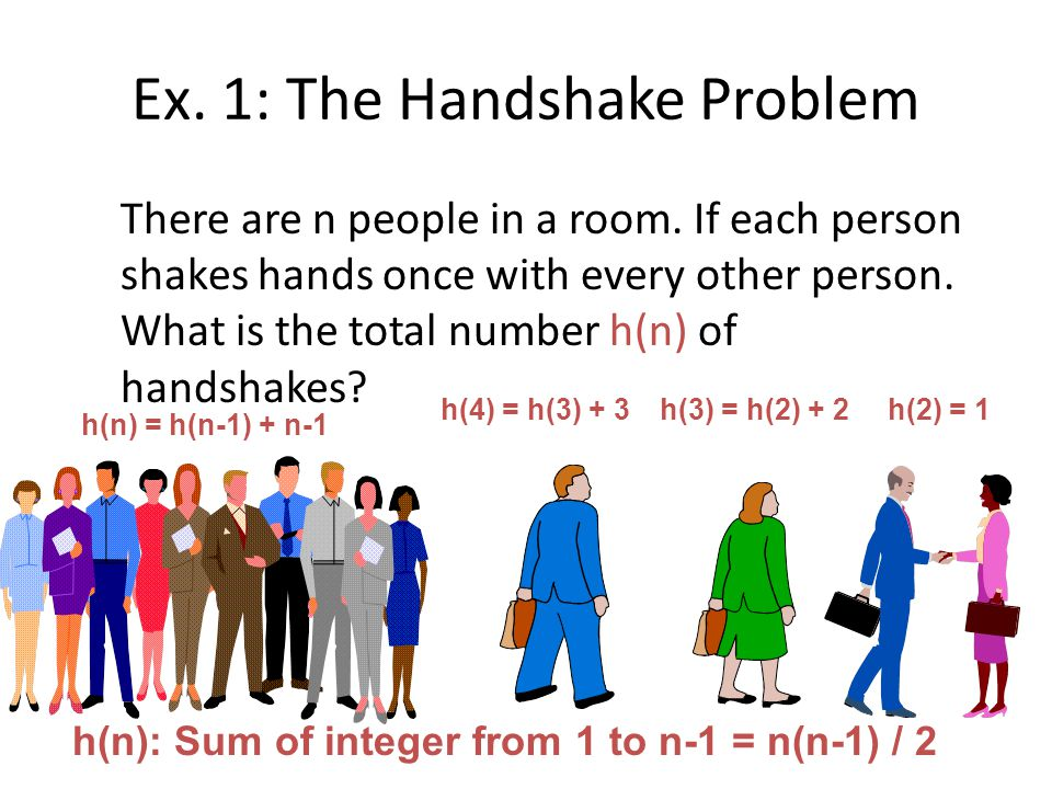 Ex. 1: The Handshake Problem