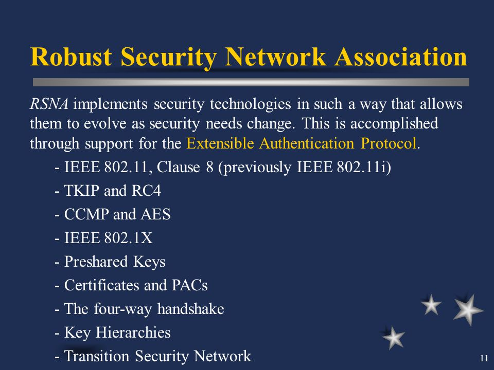 Robust Security Network Association