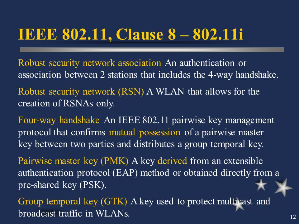 IEEE 802.11, Clause 8 – 802.11i