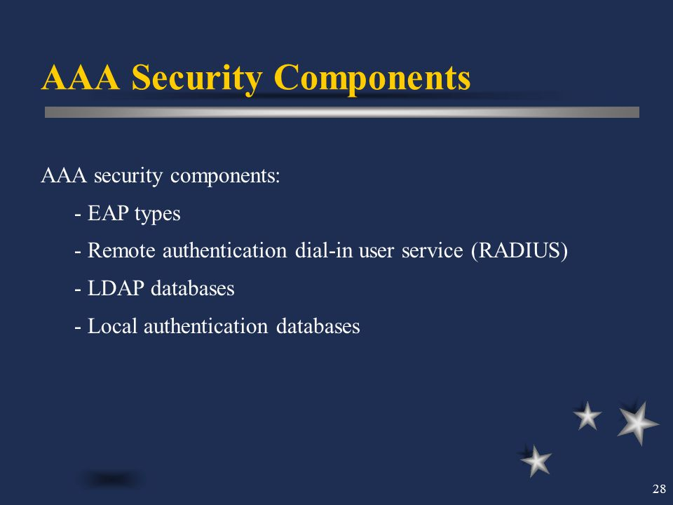 AAA Security Components