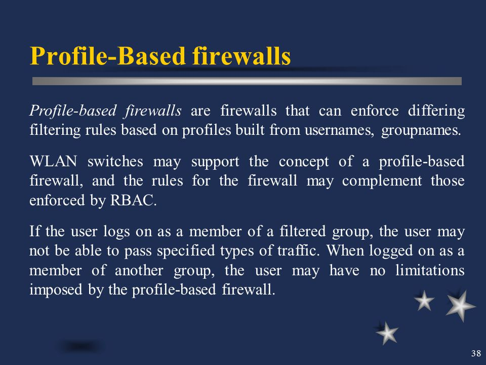 Profile-Based firewalls