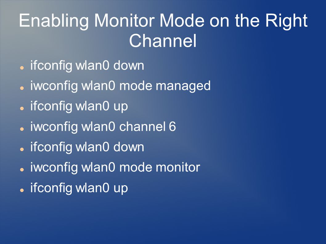 Enabling Monitor Mode on the Right Channel
