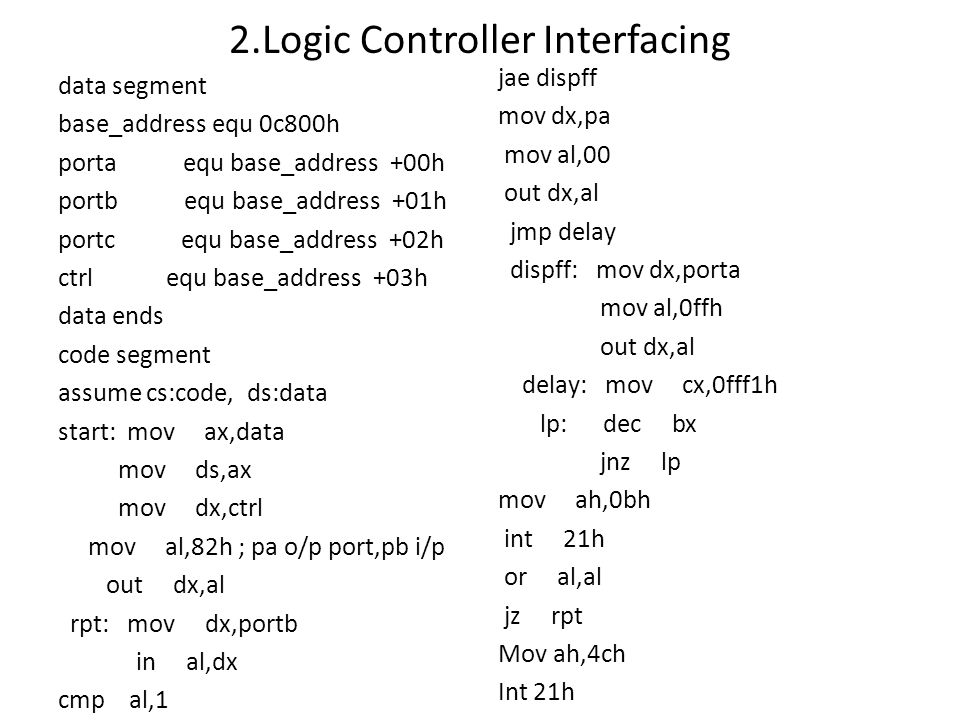 2.Logic Controller Interfacing