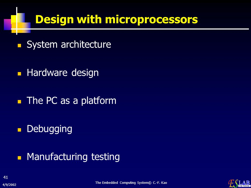 Design with microprocessors