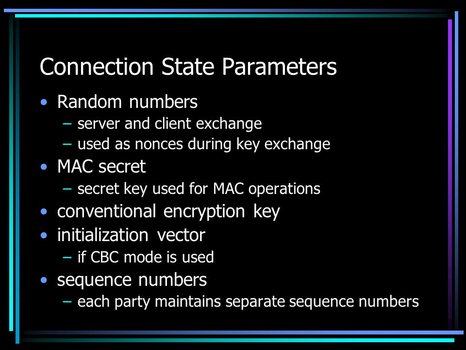 Connection State Parameters