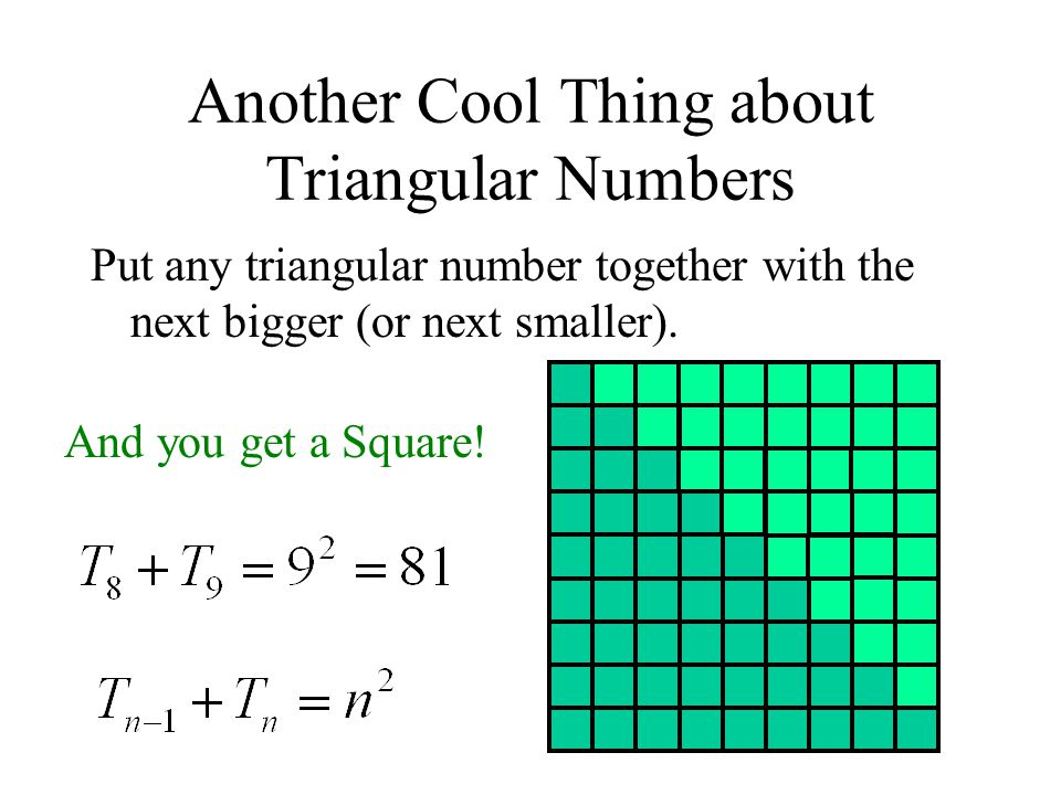 Another Cool Thing about Triangular Numbers