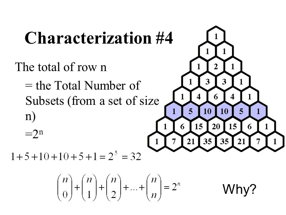 Characterization #4 Why The total of row n