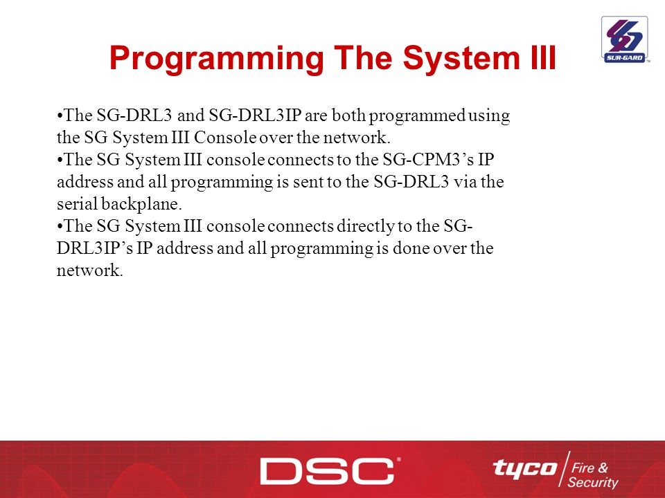 Programming The System III