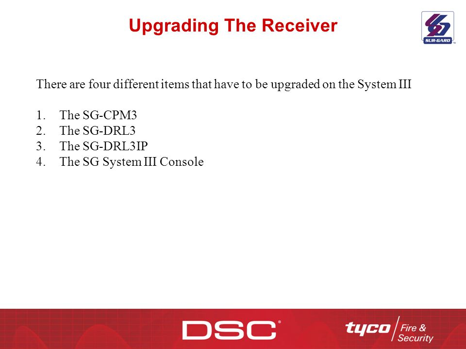 Upgrading The Receiver