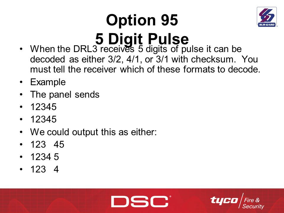 Option 95 5 Digit Pulse