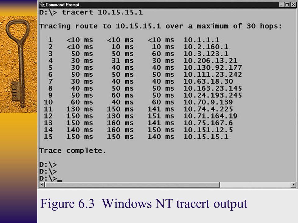 Figure 6.3 Windows NT tracert output