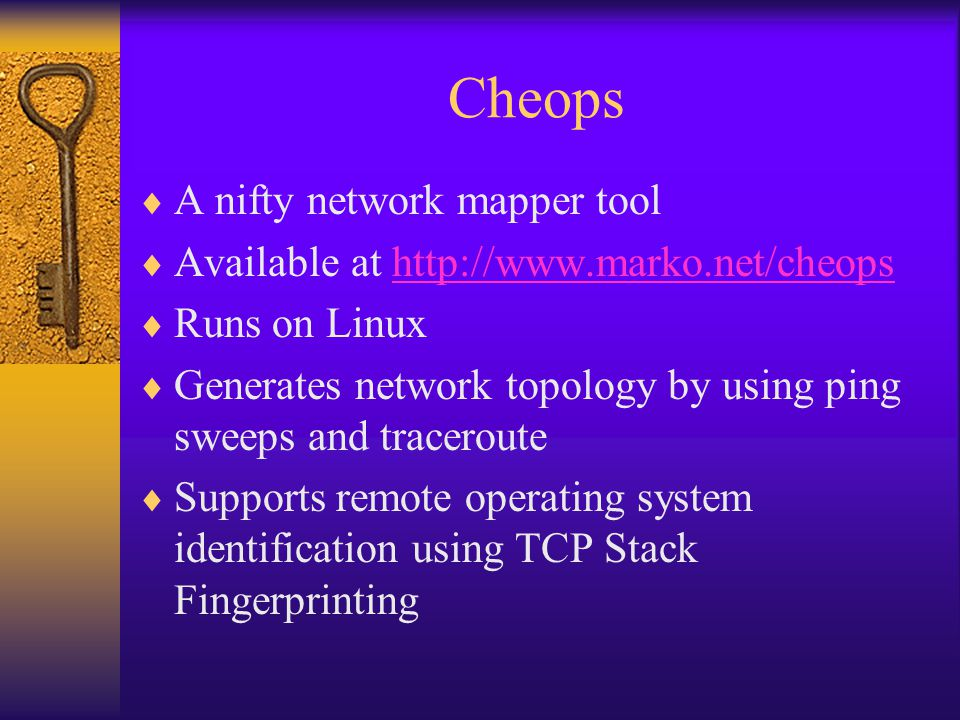 Cheops A nifty network mapper tool