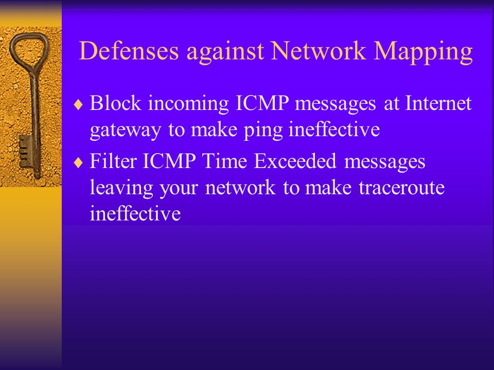 Defenses against Network Mapping