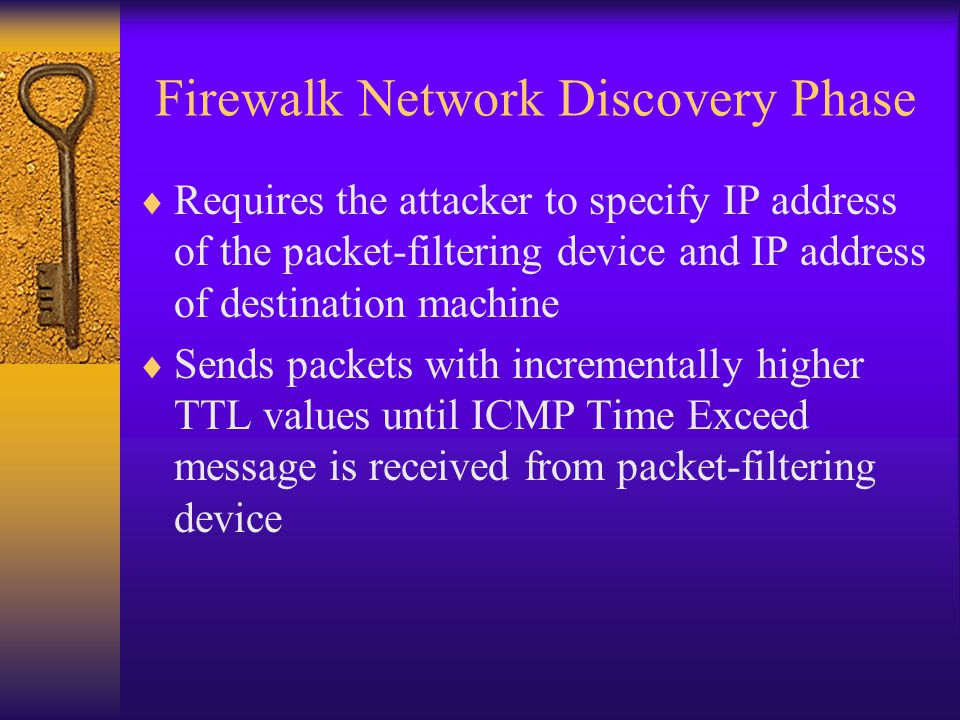 Firewalk Network Discovery Phase
