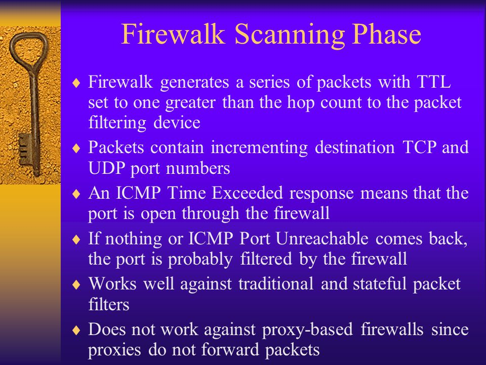 Firewalk Scanning Phase